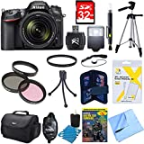 Nikon D7200 DX-format Digital SLR Camera Bundle w/ 18-140mm lens, cleaning kit, gadget bag, 32GB memory card, 57 tripod, mini tripod 67mm filter kit, universal manual flash & more
