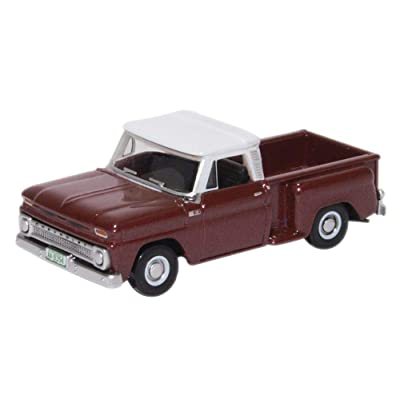 Oxford Diecast 87CP65003 Chevrolet Stepside Pick Up 1965 Maroon Metallic 1:87 Scale Model: Toys & Games