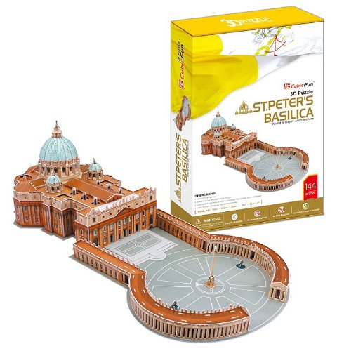 St. Peter's Basilica - World Great Architecture - 144 Pieces 3D Puzzle - Cubic Fun Series