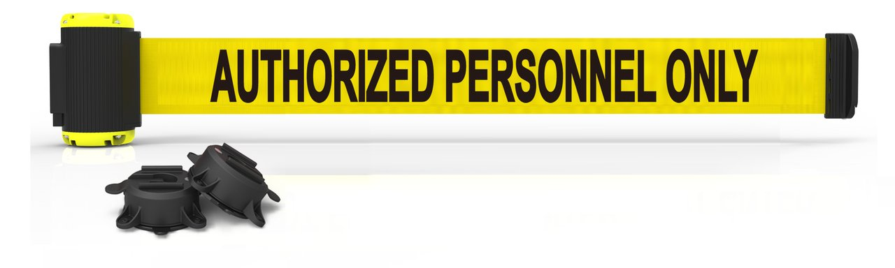 7' Magnetic Wall Mount Barrier, Authorized Personnel Only MH7013