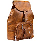 K KAPARROW Women's Brown Synthetic Shoulder Backpack