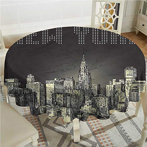 Tim1Beve New York Anti-Fading Tablecloths Grunge Empire State NYC for Events Party Restaurant Dining Table Cover D70 -