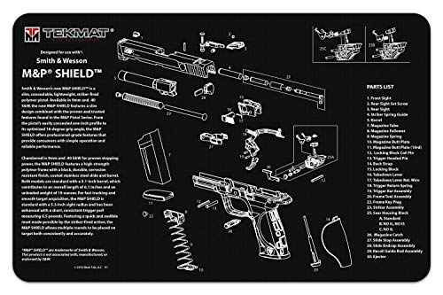 TekMat for use with Smith & Wesson M&P Shield (Smith And Wesson M&p 15 With Scope)