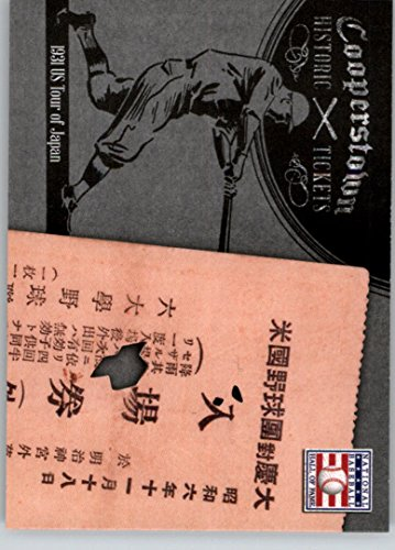 - 2013 Panini Cooperstown Historic Tickets #8 1931 US Tour of Japan -
