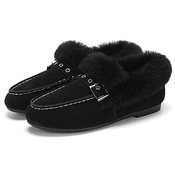 Botas Zapatos para Caminar Zapatos de Mujer Botines de Terciopelo de Moda Nieve Ligeras Terciopelo cálido