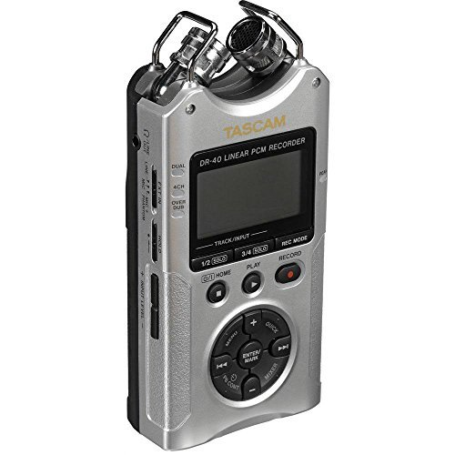 Tascam DR-40 4-Track Handheld Digital Audio Recorder (Silver) by Tascam