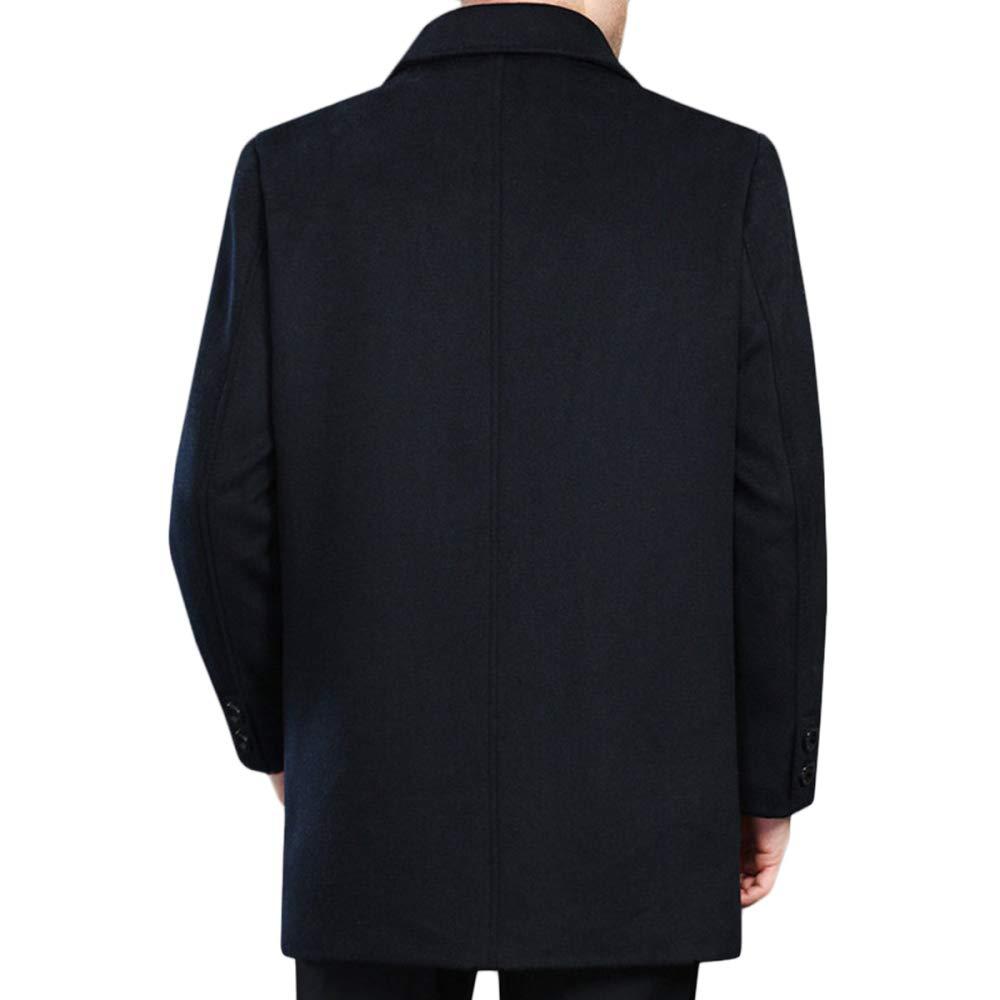 QQWE Cappotto di Lana da Uomo Cappotto Classico di Lana E