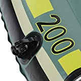 Qiilu Inflatable Boat, Green PVC Inflatable Two