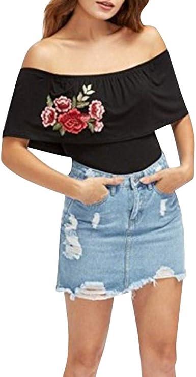Faldas Vaqueras Jeans Verano, Falda Minifalda de Bolsillo con ...