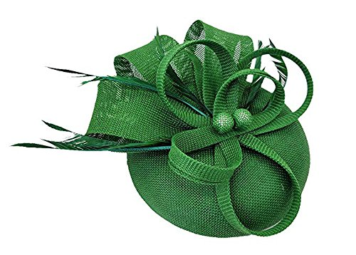 Hilary Ella Fascinator Hats for Women Pillbox Hat for Wedding Party Derby Royal Banquet]()