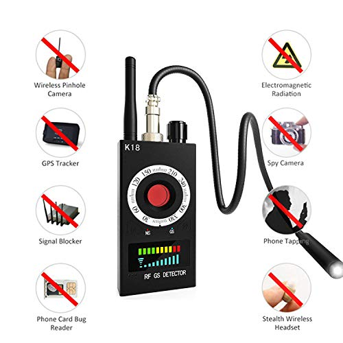 RF Signal Scanner Radio Anti-spy Hidden Camera Detector Wireless GSM Audio Bug Sweeper Finder GPS Tracker US Plug