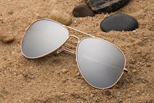 Mirrored para hombre Gafas sol JAVIOL sliver Gold de qBwfF