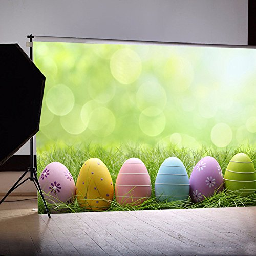 HHmei Easter Day Theme Vinyl Photography Backdrop Custom Photo Background Props Photo Studio 3D Studio Background Cloth (84F)