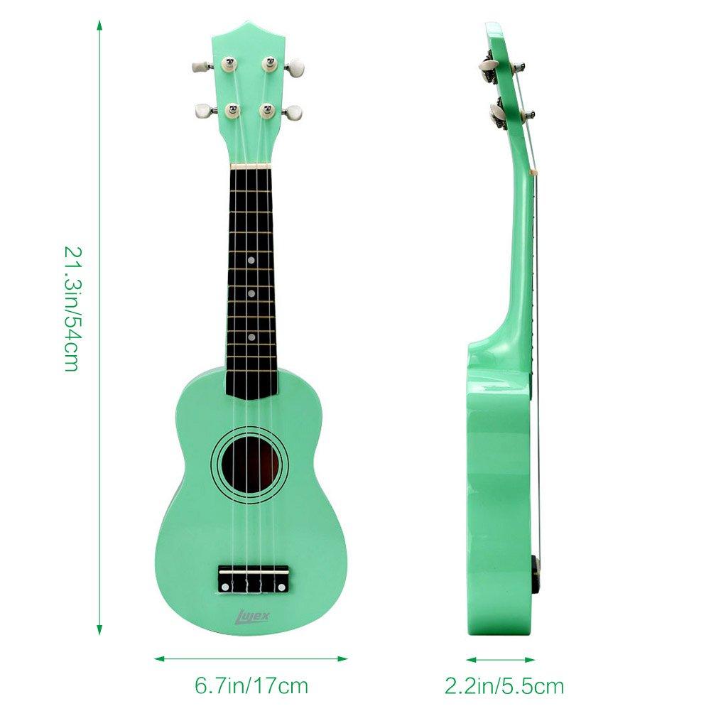 Lujex - Ukelele Uke tradicional para principiantes (adultos o niños, unisex) con cuerpo de tilo macizo de 53 cm y 4 cuerdas: Amazon.es: Instrumentos ...