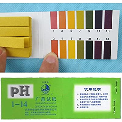80 Tester Ideal Popular pH Test Strips Urine & Saliva 1-14 Paper Scale Universal with Color Chart