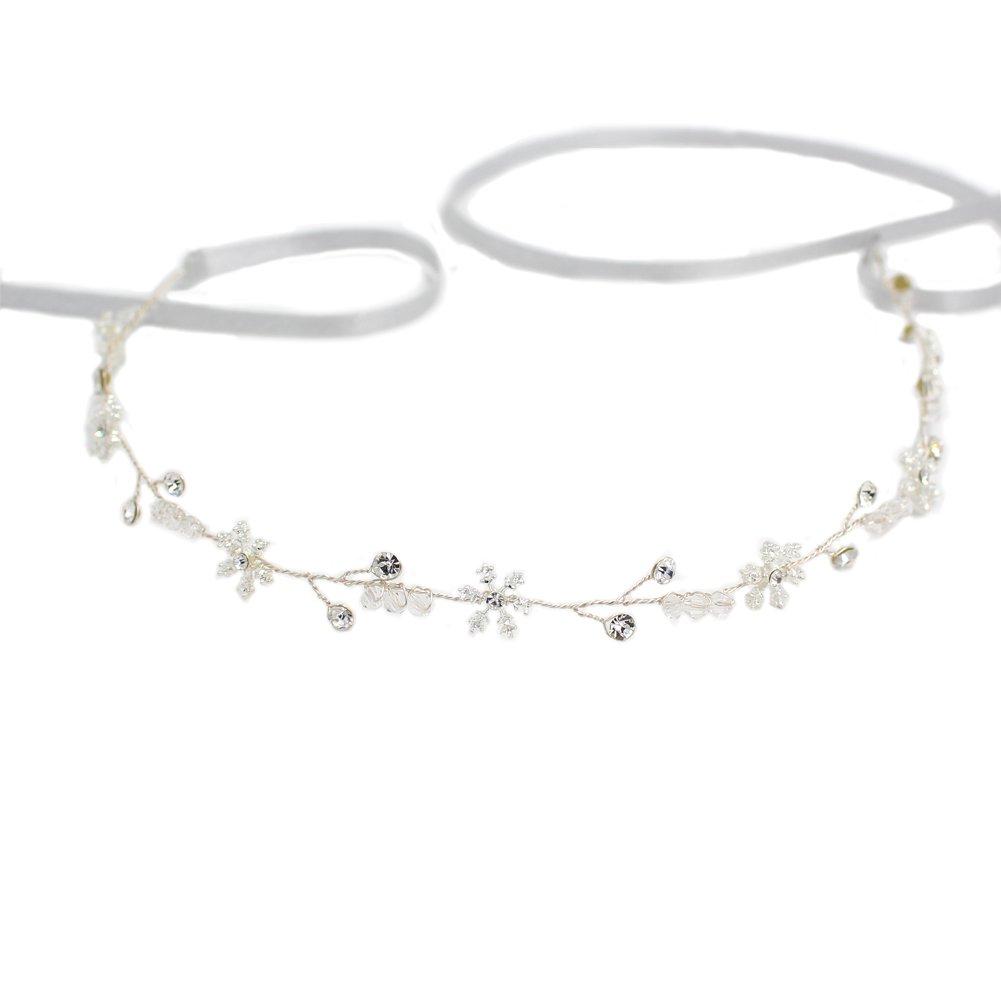 Yazilind Mode Tiara Elegante Legierung Schneeflocke Strass Braut Hairband Silber Frauen Mädchen Haarschmuck für Hochzeitsgesellschaft YAZILIND JEWELRY LIMIT 1705T0154