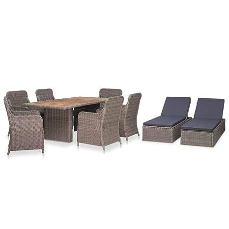 Festnight Mobilier de Jardin Exterieur Table et Chaise en ...