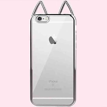 8909962440 Amazon.com: iPhone 6/6S Cute Cat Ear Case, Super Soft Electroplate ...