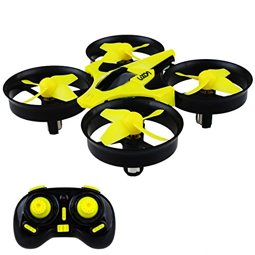 Mini Drone Headless RC Quadcopter Drone Kids 2.4GHz 4CH 6 Axis Remote Control Helicopter Indoor/Outdoor Flying Small Airplane One Key Return Beginner (Yellow)