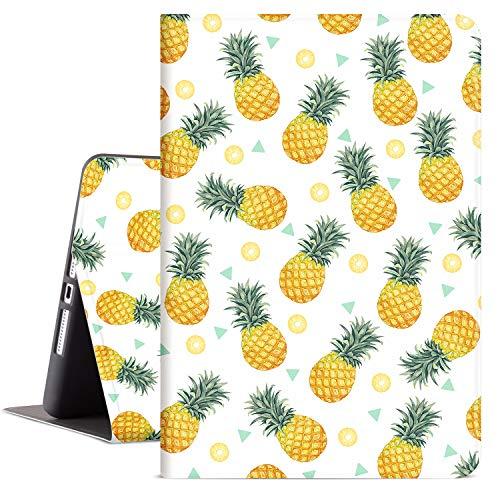 Lokigo iPad 10.2 Case for iPad 8th Generation 2020, iPad 7th Generation 10.2 Inch Case iPad Cover 2019 for Women Girls, Multi Angle Viewing Case Adjustable Stand Auto Wake/Sleep (Pineapple)