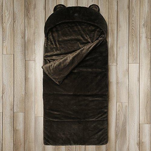 Kids Sleeping Bag Toddler Plush Bear Faux Fur Gift (Brown) by BearBag