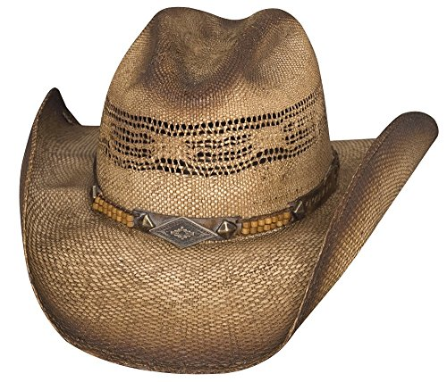 Bullhide By Monte Carlo Full Speed - Straw Cowboy Hat (X-Large), Sweated & Dusted from Bullhide Hat Co