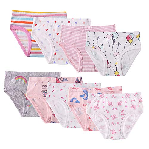Seekay 9 Pack Little Girl Underwear Cotton, Baby Girls Panties Briefs Toddler Girl