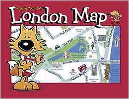 Simplified Map Of London.Guy Fox Create Your Own London Map Amazon Co Uk Kourtney Harper