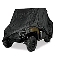 Utv Heavy Duty Black Or Camo Waterproof Utv Side By Side Cover Fits Up To 124'l W/ Roll Cage Atv Cover Rhino Ranger Mule Gator Prowler Razor Recon Pioneer Viking Wolverine (2 Year Warranty)