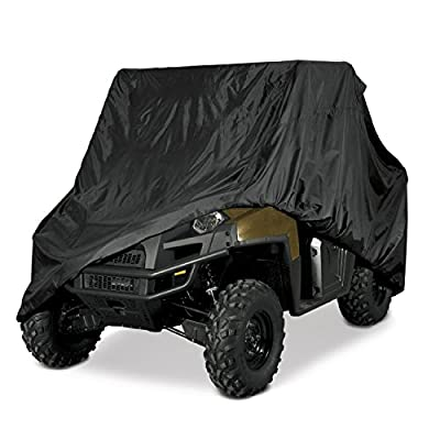 Utv Heavy Duty Black Waterproof Utv Side By Side Cover Covers Fits Up To 124'l W/ Roll Cage Atv Cover Rhino Ranger Mule Gator Prowler Razor Recon Rzr Pioneer Viking Wolverine Wildcat (2 Year Warranty)