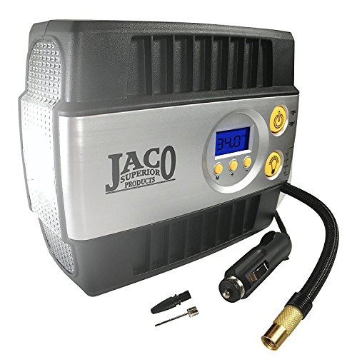 JACO SmartPro Digital Tire Inflator Pump - Premium 12V Portable Air Compressor - 100 PSI (Tire Pump Automobile)