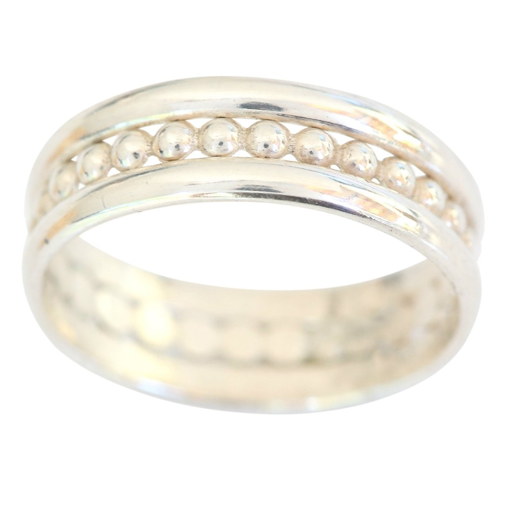 Sterling Silver Trio Set Plain bands Fitted Sized Toe Ring (5) by California Toe Rings