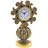 Islamic Frames 10.65 inches, Desk Clock, Table Clocks, Asma Ul Husna, The 99 Names of Allah, Decor, Objects, Vav Letter, Waw Shape, Crystal Gold, Arabic, Water, Business Gifts, Muslim Wedding, Tulip