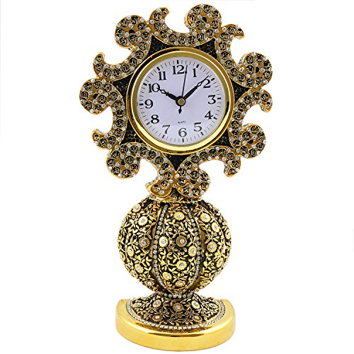 Islamic Frames 10.65 inches, Desk Clock, Table Clocks, Asma Ul Husna, The 99 Names of Allah, Decor, Objects, Vav Letter, Waw Shape, Crystal Gold, Arabic, Water, Business Gifts, Muslim Wedding, Tulip by Effak Islamic Frames
