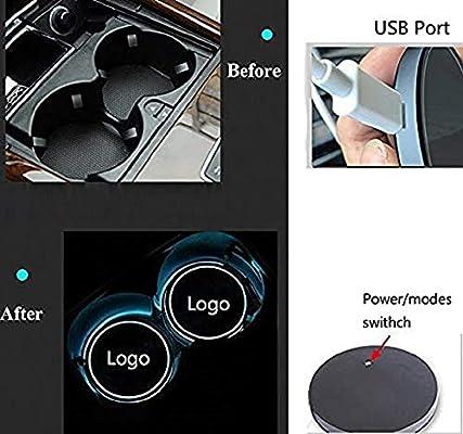 Honda 2pcs LED Auto Cup Halter Matte Pad Wasserdicht Flasche Getr/änke Untersetzer f/ür Universal Auto zur Autodekoration Stimmungslicht Innenraumbeleuchtung wasserdicht