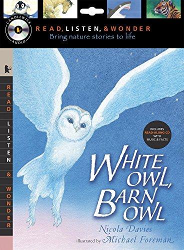 White Owl, Barn Owl with Audio, Peggable: Read, Listen, & Wonder