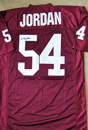 (Lee Roy Jordan Signed Custom Jersey - Alabama All American)