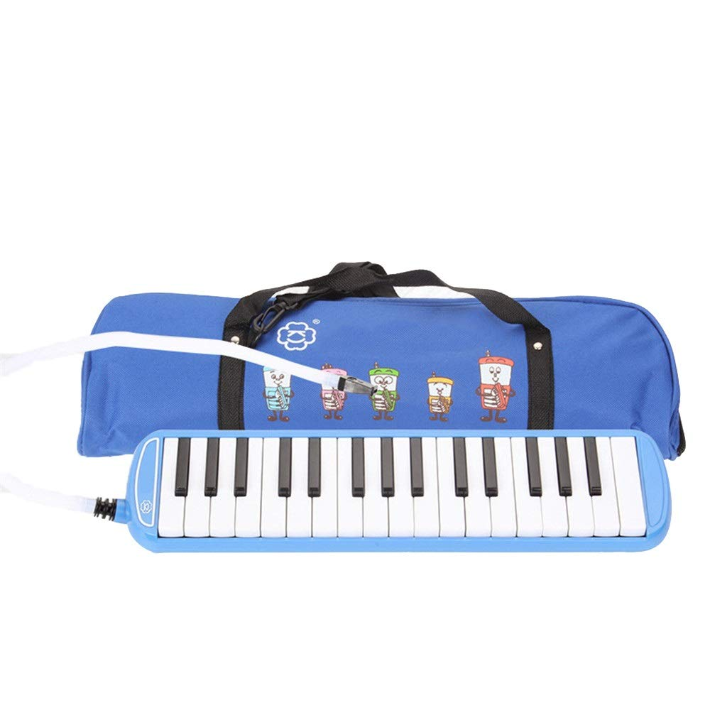 Melodica Musical Instrument 32 Keys Pianica Melodica With Portable Carrying Bag Kids Musical Instrument Gift Toys For Music Lovers Beginners Mouthpieces Tube Sets Black Blue Pink For Music Lovers Begi