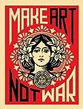 Make Art Not War Art Poster PRINT Shepard Fairey 18x24 by Library Images