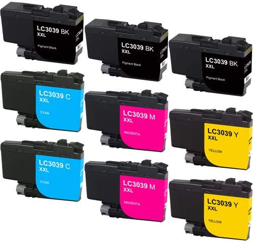 LC-3039MP/_3PK 3-BK//C//M//Y SuppliesMAX Compatible Replacement for Brother HL-6000//MFC-J5845//J5945//J6545//J6945DW Ultra High Yield Inkjet Combo Pack
