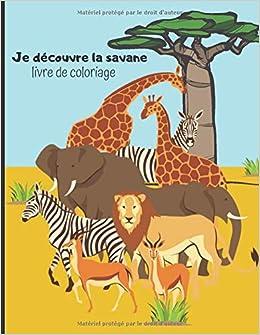 Je Decouvre La Savane Livre De Coloriage Cahier De Dessin Pour