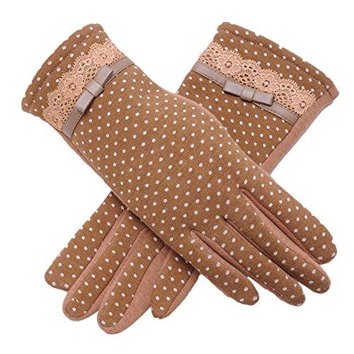 (よキーよ)Yokeeyo レディース手袋 可愛い女性用グローブ スマホ操作便利 ふわふわ 裏起毛 タッチパネル対応 自転車 バイク アウトドア 通勤 通学 防寒防風耐磨 保温効果 優雅にファッション