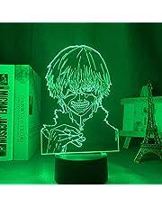 Anime Figuur, Anime 3D Lamp Tokyo Ghoul Ken Kaneki voor Slaapkamer Decor Nachtlampje Cool Verjaardagscadeau Acryl Led Nachtlampje Tokyo Ghoul