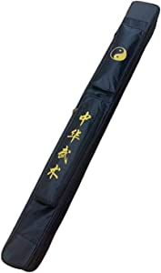 ZooBoo Taichi Sword Carrying Bag - Chinese Kung Fu Sword Bag Single and Double Layer Sword Carrying Case Martial Arts Weapons Case Sword Shoulder Bag - Oxford Cloth with PU