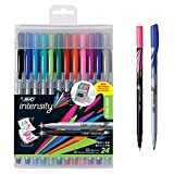 BIC Intensity Fineliner Marker Pen Easel Pack, Fine/Medium Point, Assorted Colors, 24-Count