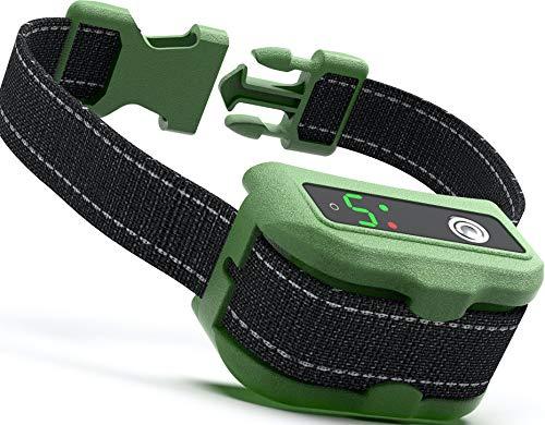 UPGRADED Q6 Rechargeable Bark Collar – Smart Barking Detection Module w/Triple Stop Anti-False Modes: Beep/Vibration…