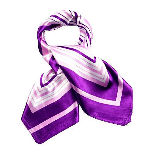 AOYOMO Womens Mix Patterned Silk Scarf Bandana Necktie Scarves Head Hair Warp #P