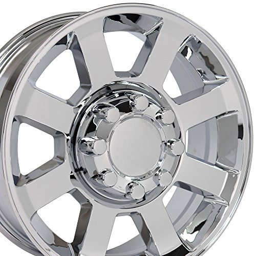 Plated Rims Chrome Aluminum (OE Wheels 20 Inch Fits Ford F250 F350 Super Duty Style FR78 Chrome 20x8 Rim Hollander 3693)