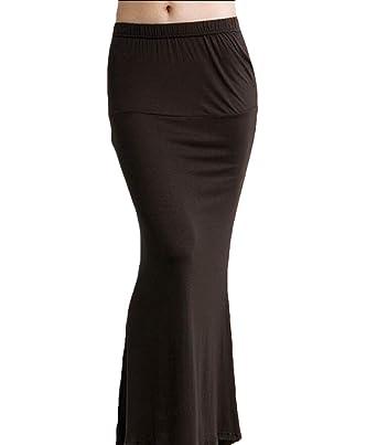 BingSai - Falda de Cola de Sirena Acampanada de Talle Alto para ...