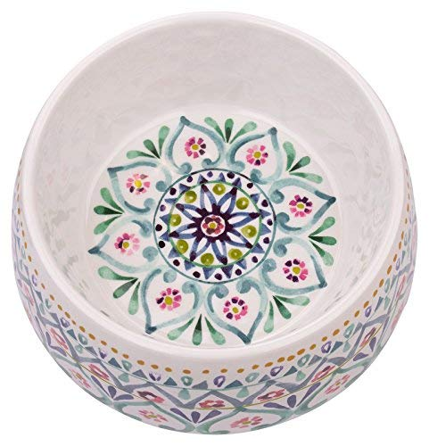 TarHong Multi Boho Medallion Melamine Pet Bowl, Medium